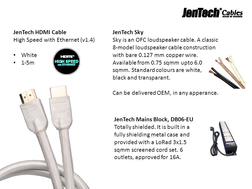 JenTech HDMI Cable High Speed with Ethernet (v1.4)