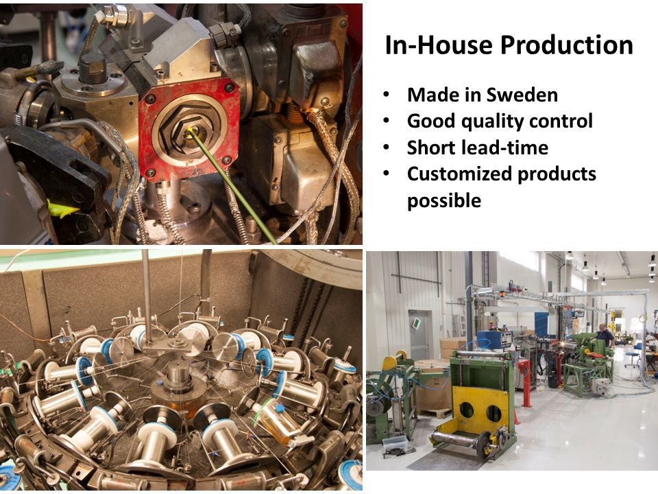 In-House Production Made in Sweden Good quality control