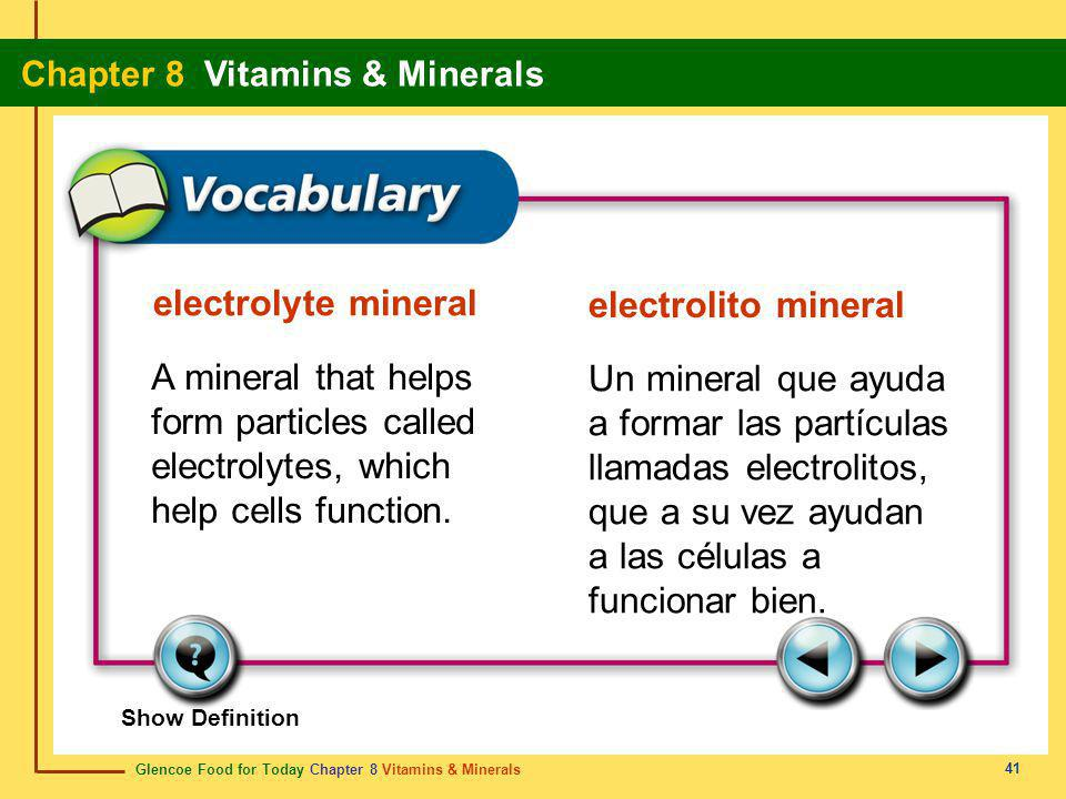 form particles called electrolytes, which help cells function.