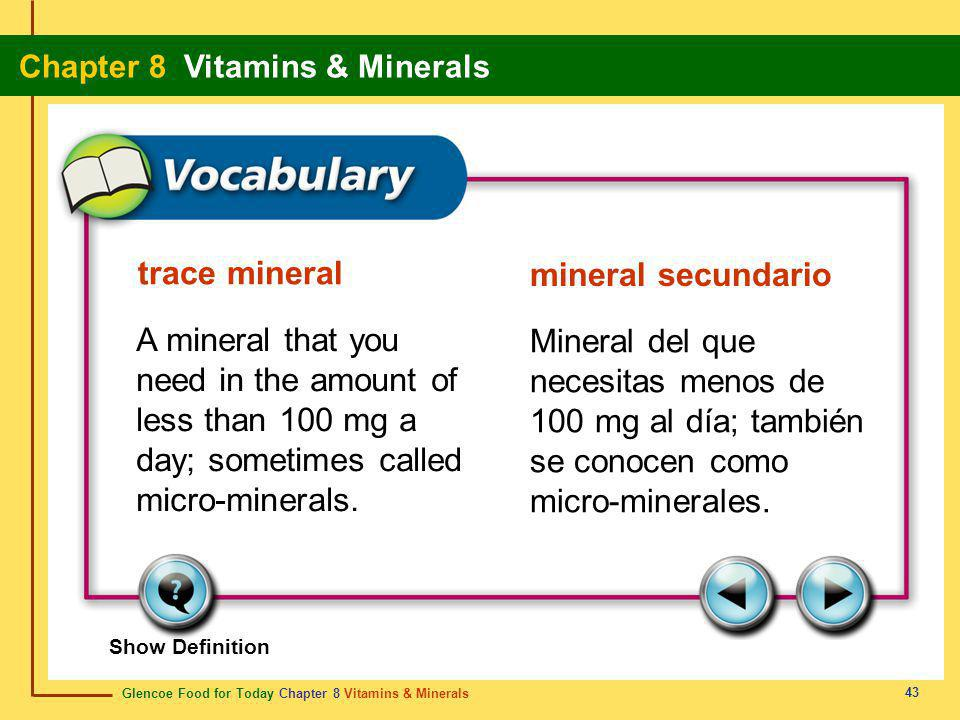 trace mineral mineral secundario