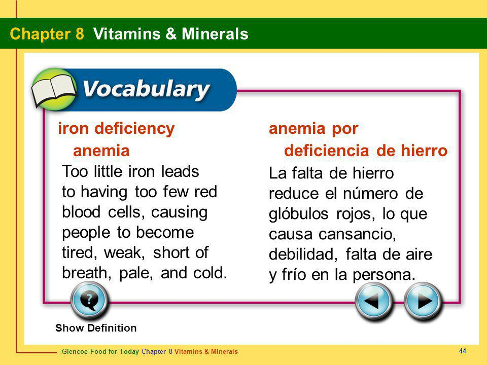 iron deficiency anemia anemia por deficiencia de hierro