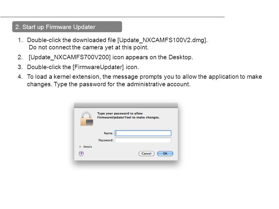 2. Start up Firmware Updater