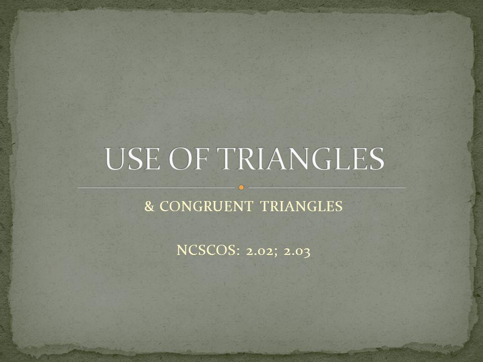 & CONGRUENT TRIANGLES NCSCOS: 2.02; 2.03
