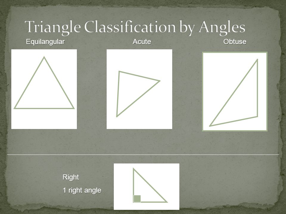 Triangle Classification by Angles