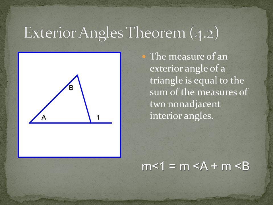 Exterior Angles Theorem (4.2)