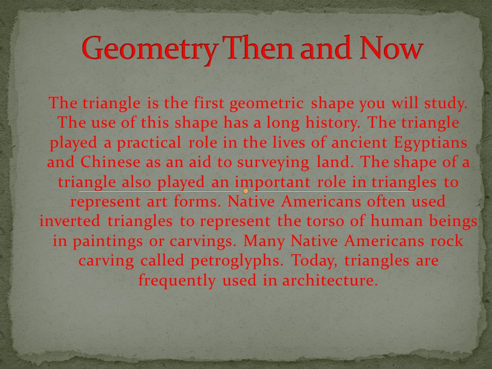 Geometry Then and Now