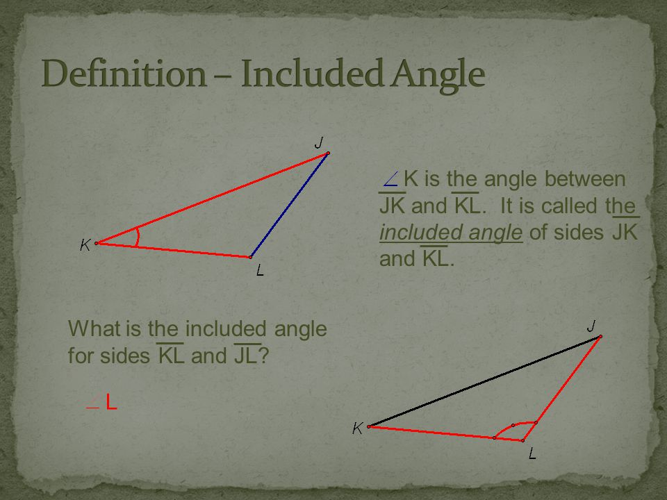 Definition – Included Angle