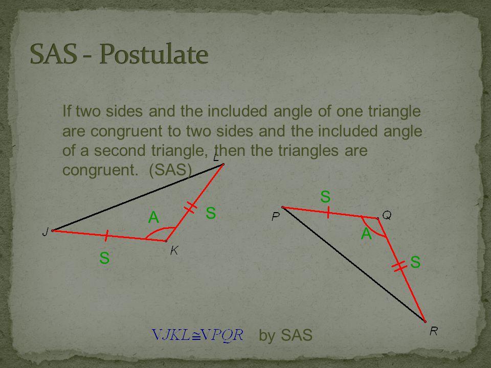 SAS - Postulate