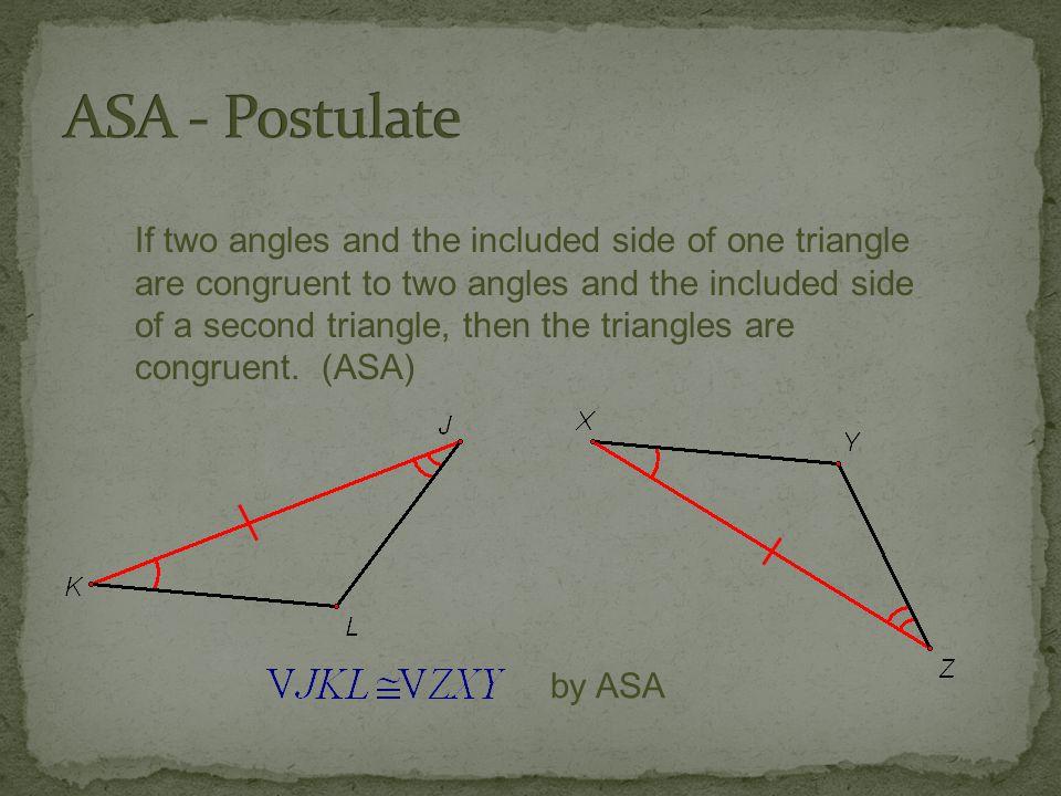 ASA - Postulate