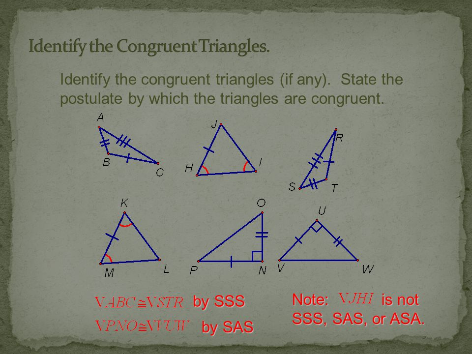 Identify the Congruent Triangles.