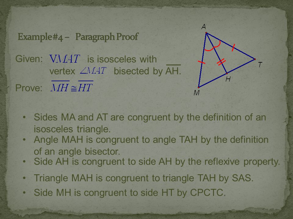 Example #4 – Paragraph Proof