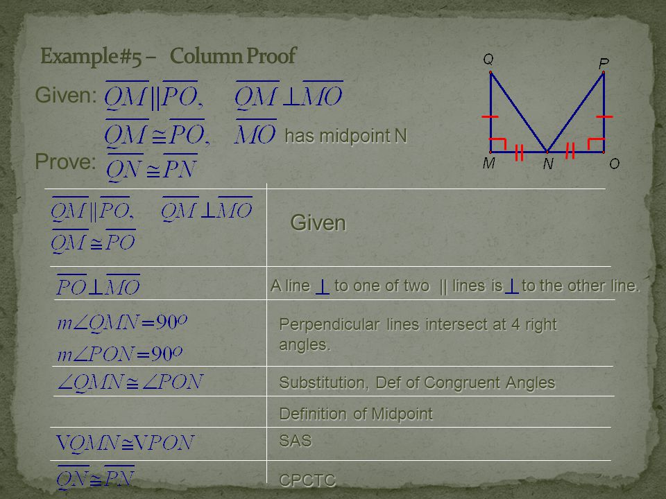 Example #5 – Column Proof