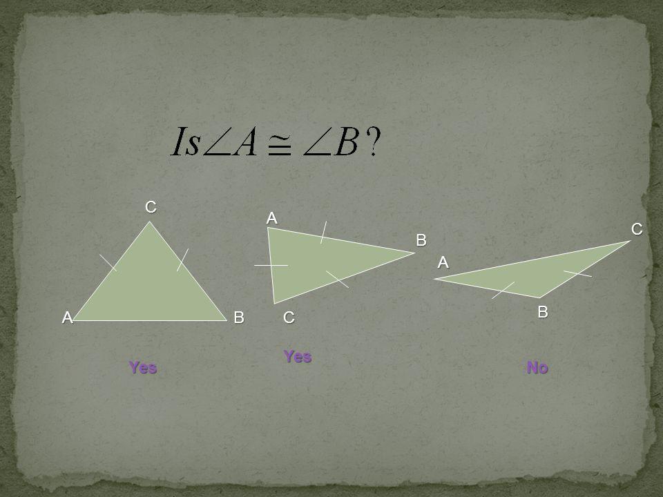 C A C B A B A B C Yes Yes No