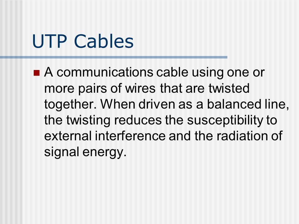 UTP Cables