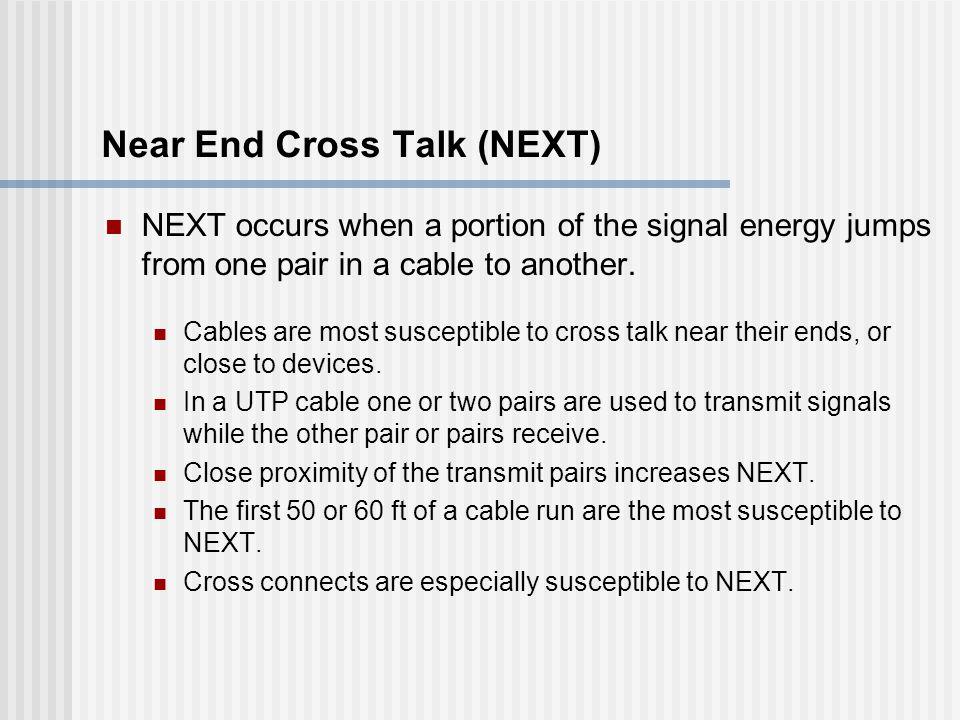 Near End Cross Talk (NEXT)