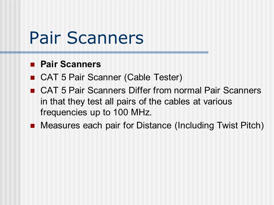 Pair Scanners Pair Scanners CAT 5 Pair Scanner (Cable Tester)