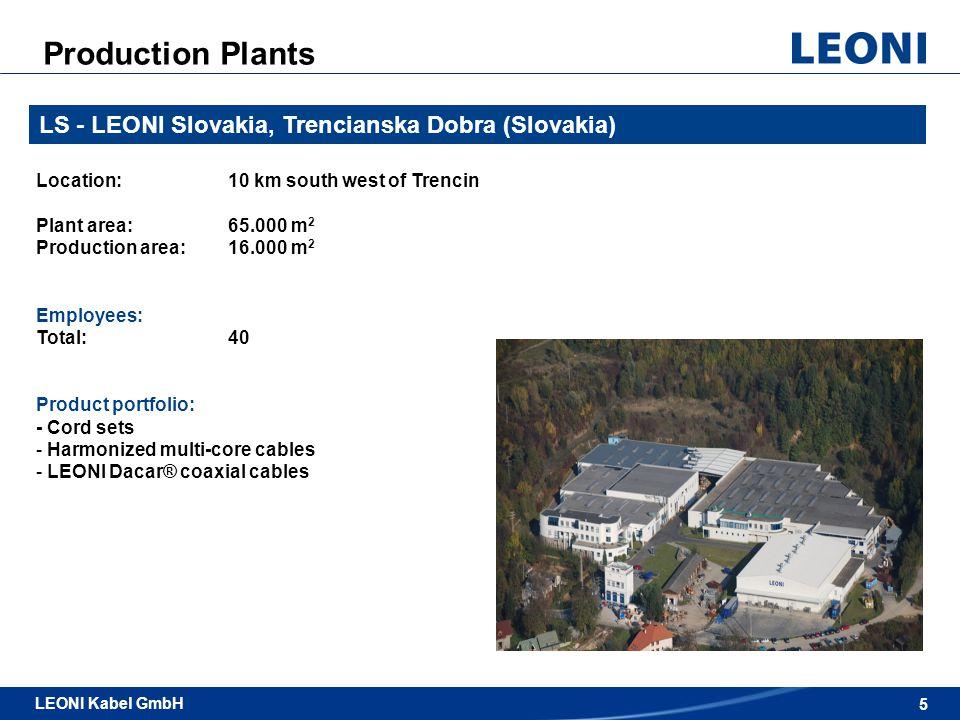 Production Plants LS - LEONI Slovakia, Trencianska Dobra (Slovakia)