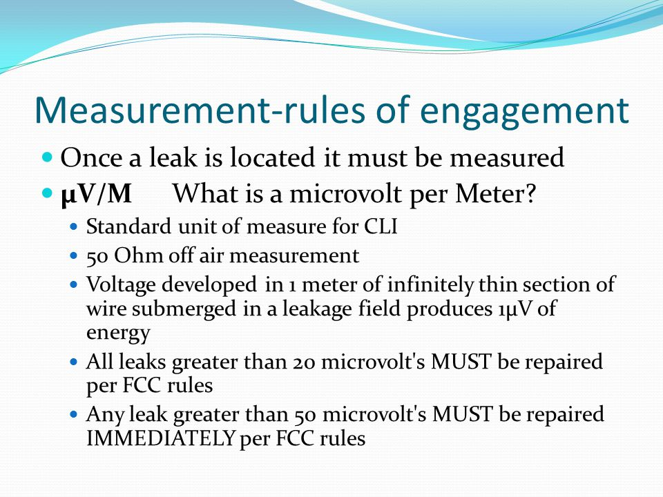 Measurement-rules of engagement