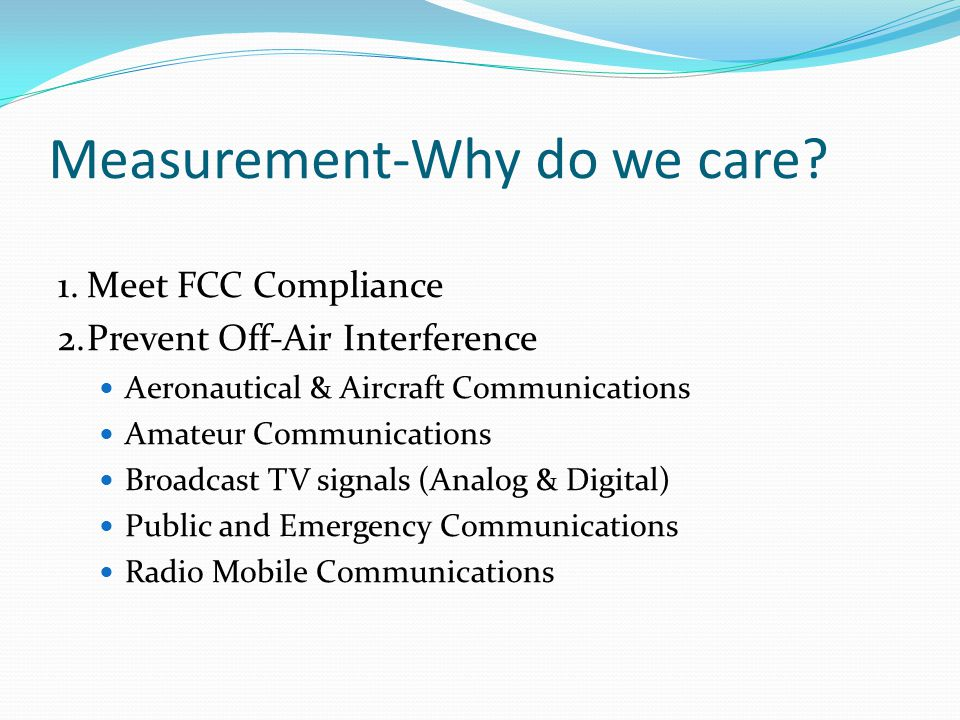 Measurement-Why do we care