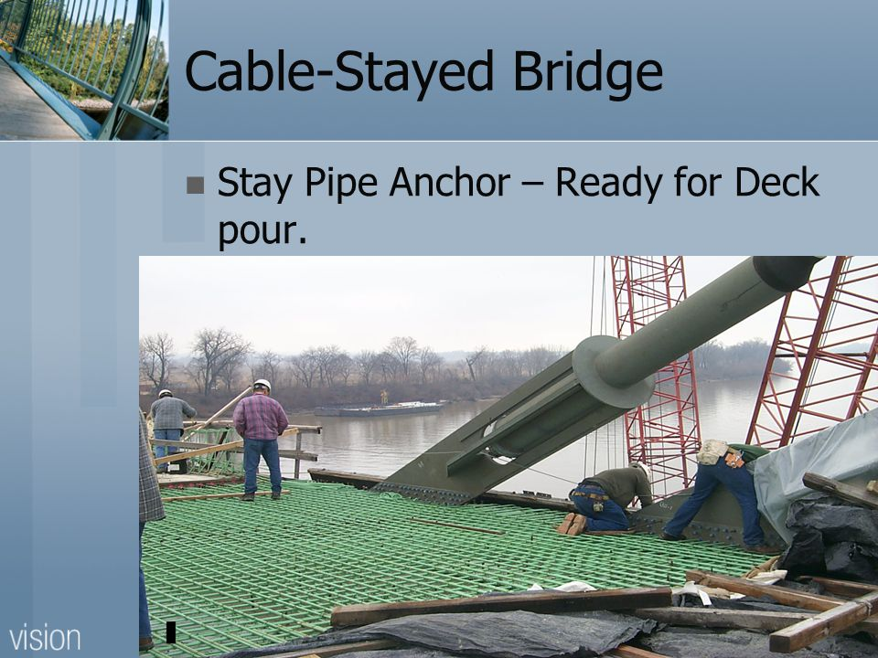 Cable-Stayed Bridge Stay Pipe Anchor – Ready for Deck pour.