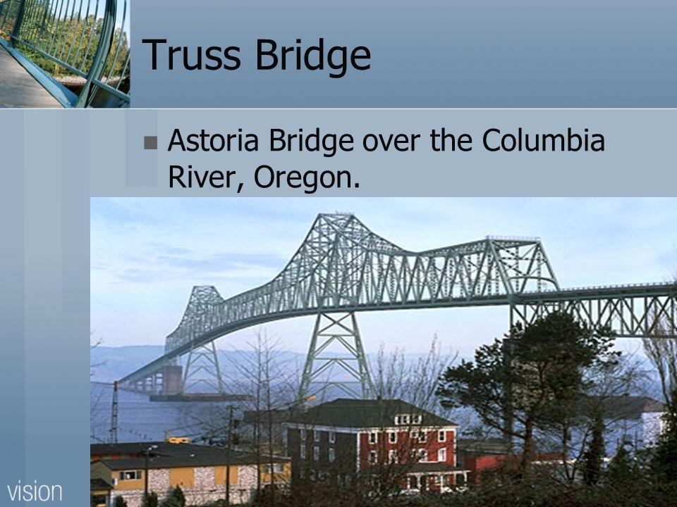 Truss Bridge Astoria Bridge over the Columbia River, Oregon.