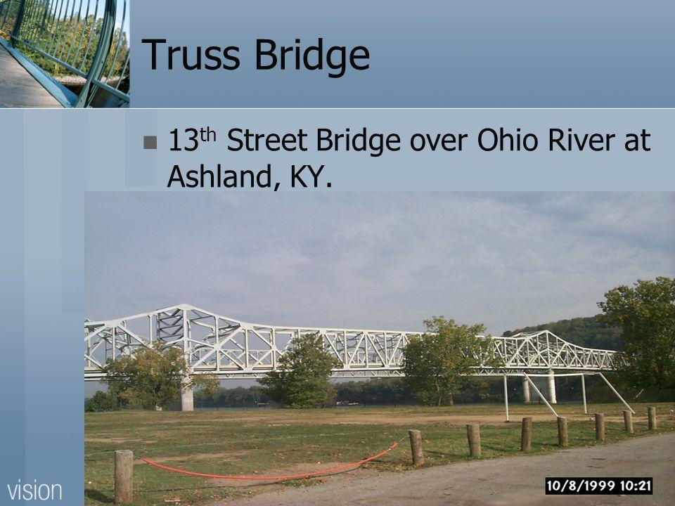 Truss Bridge 13th Street Bridge over Ohio River at Ashland, KY.