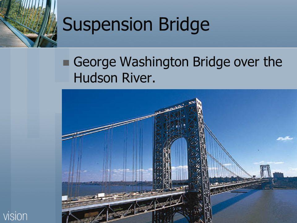 Suspension Bridge George Washington Bridge over the Hudson River.