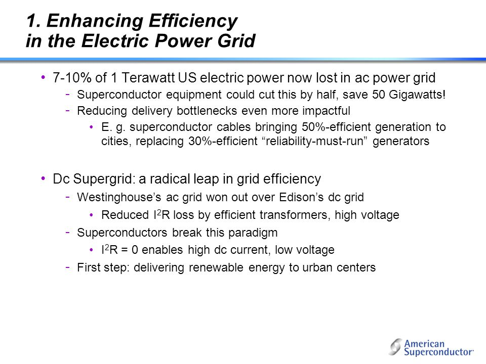 1. Enhancing Efficiency in the Electric Power Grid