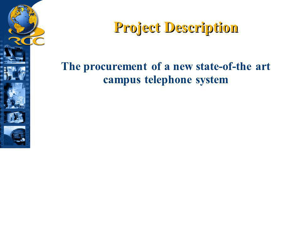 The procurement of a new state-of-the art campus telephone system