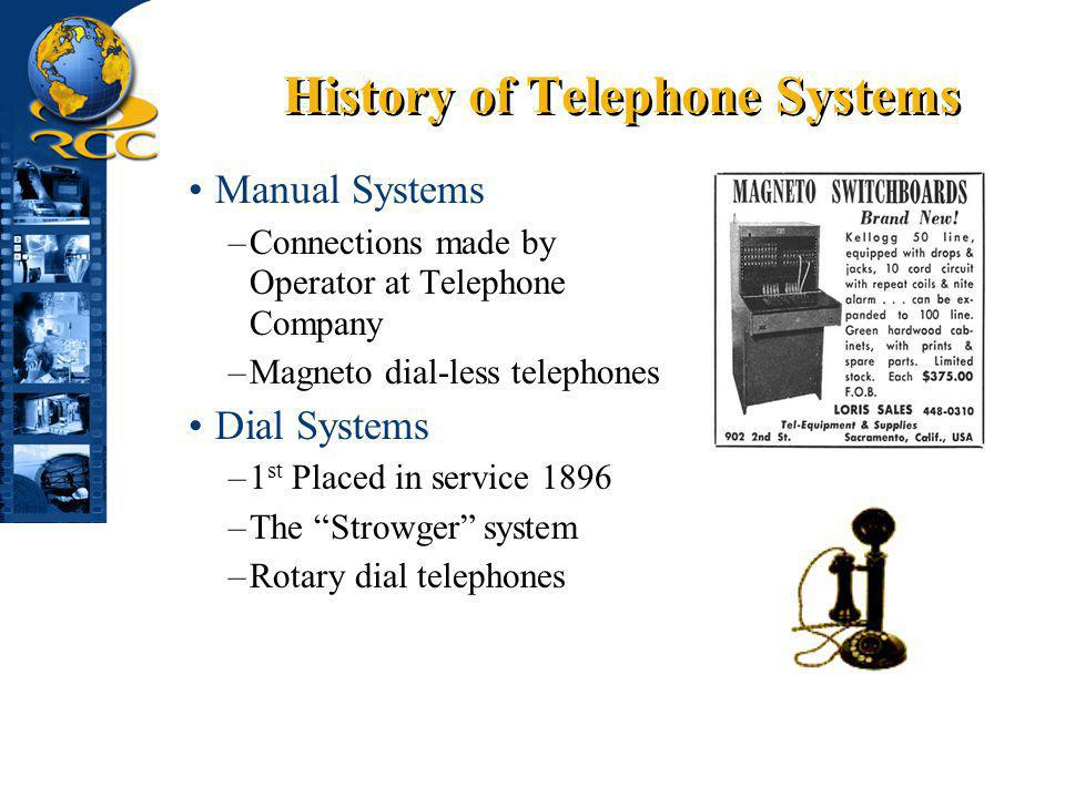 History of Telephone Systems