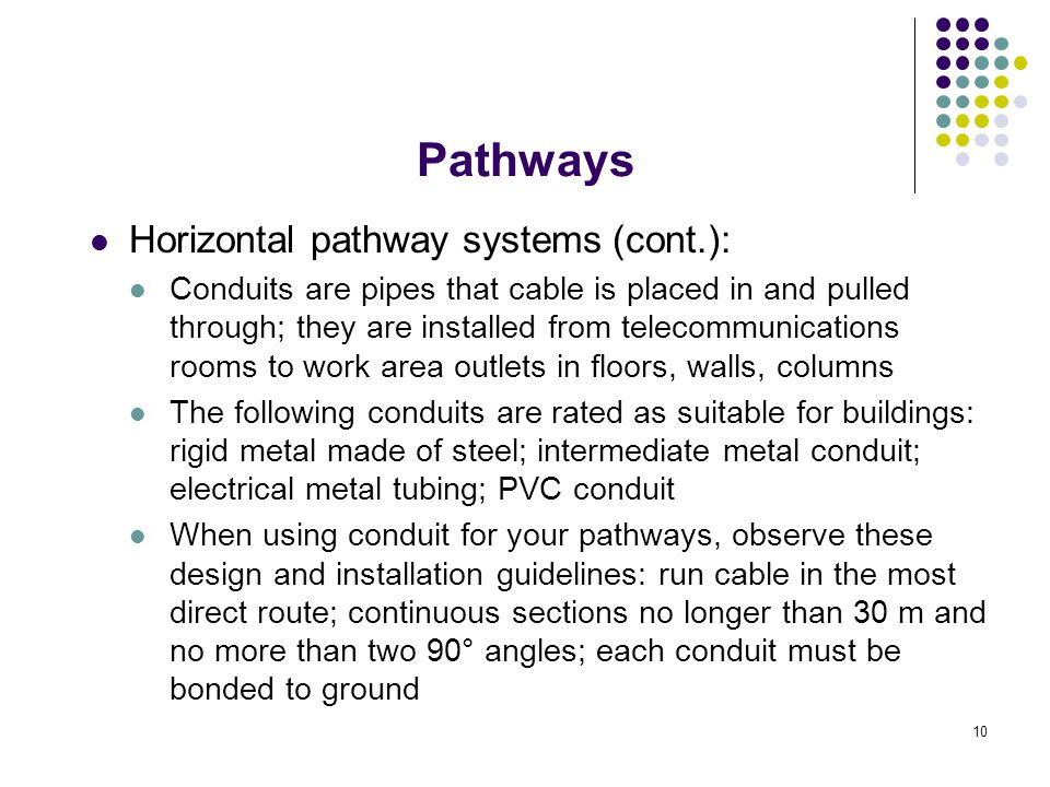 Pathways Horizontal pathway systems (cont.):