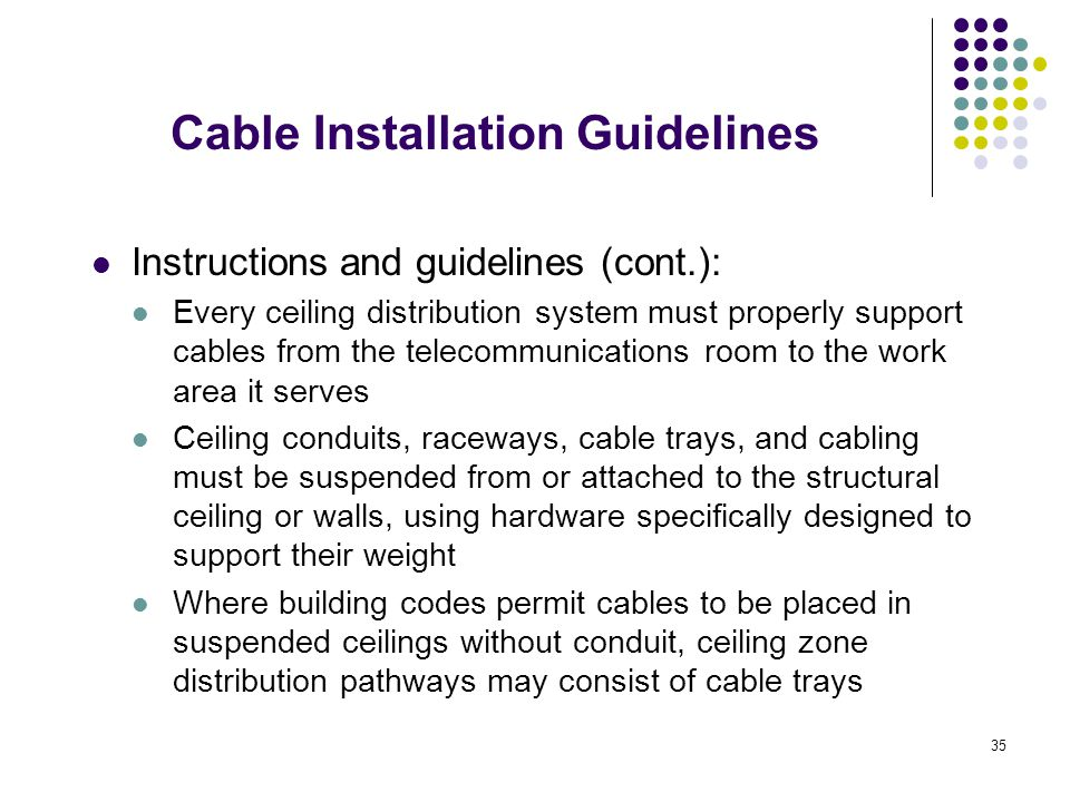 Cable Installation Guidelines