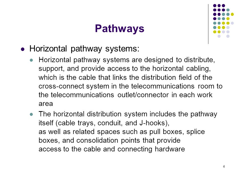 Pathways Horizontal pathway systems: