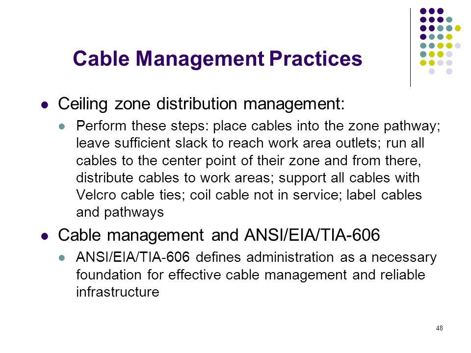 Cable Management Practices
