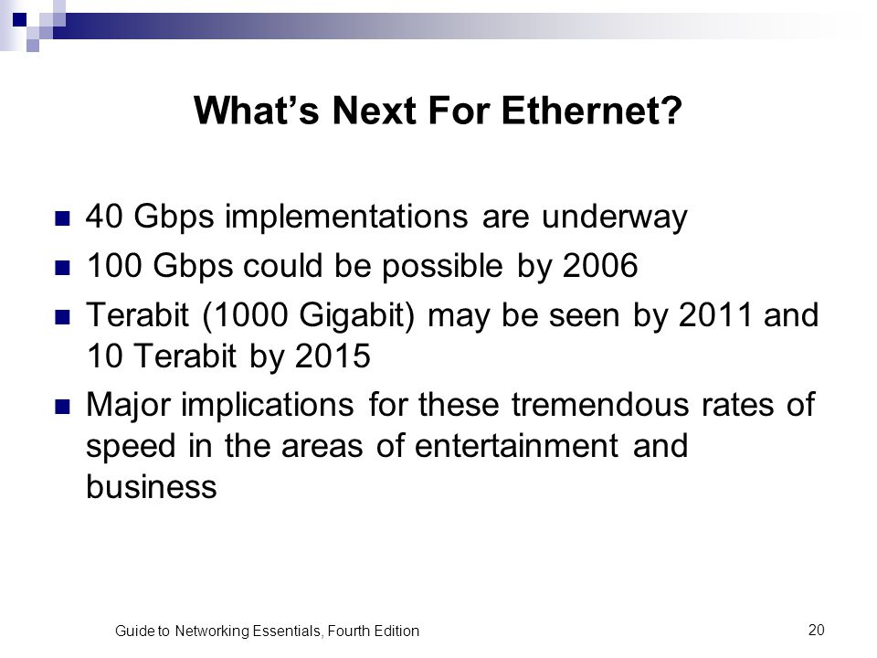 What's Next For Ethernet