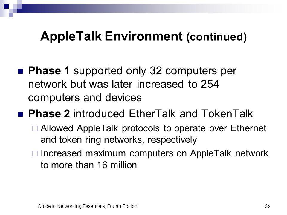 AppleTalk Environment (continued)