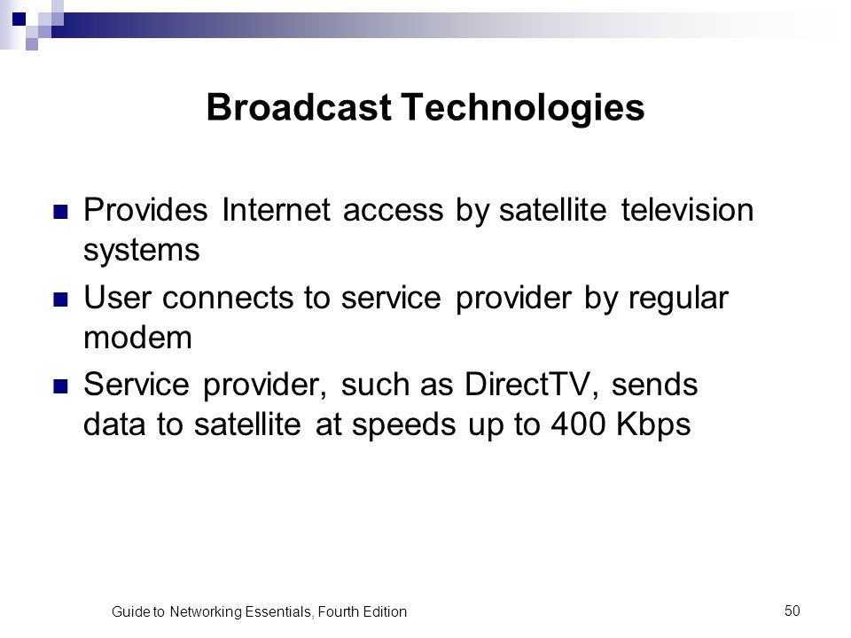 Broadcast Technologies