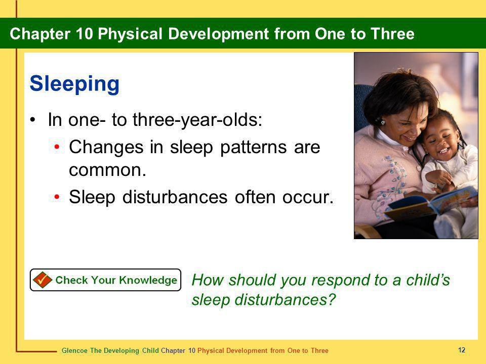 Sleeping In one- to three-year-olds: