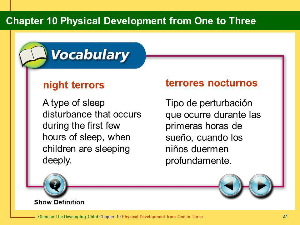 terrores nocturnos night terrors