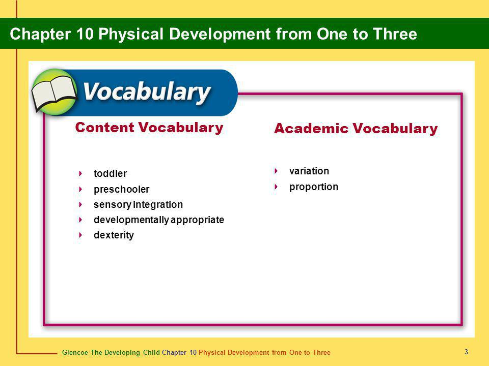 Content Vocabulary Academic Vocabulary variation toddler proportion