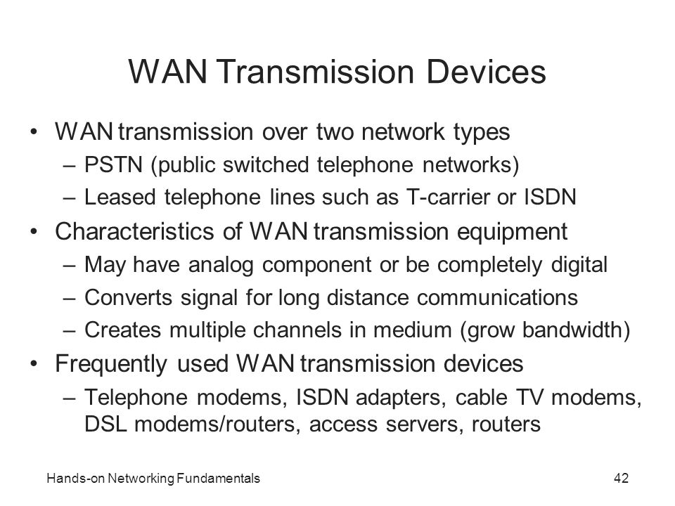 WAN Transmission Devices