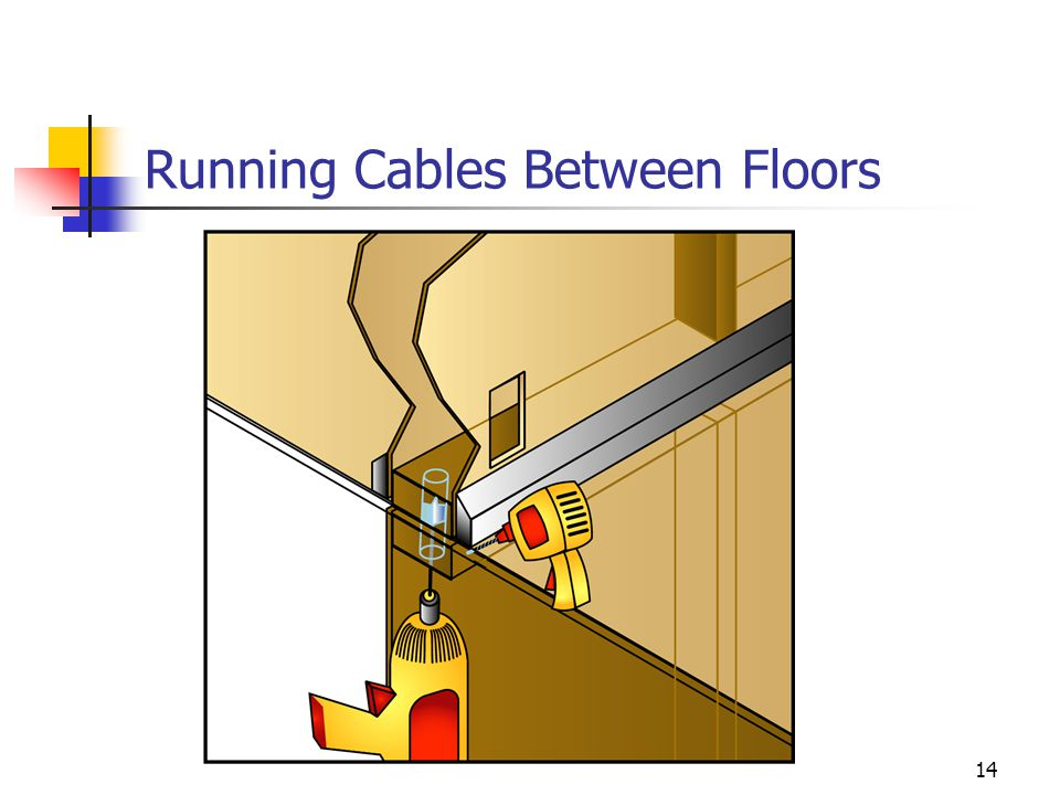 Running Cables Between Floors