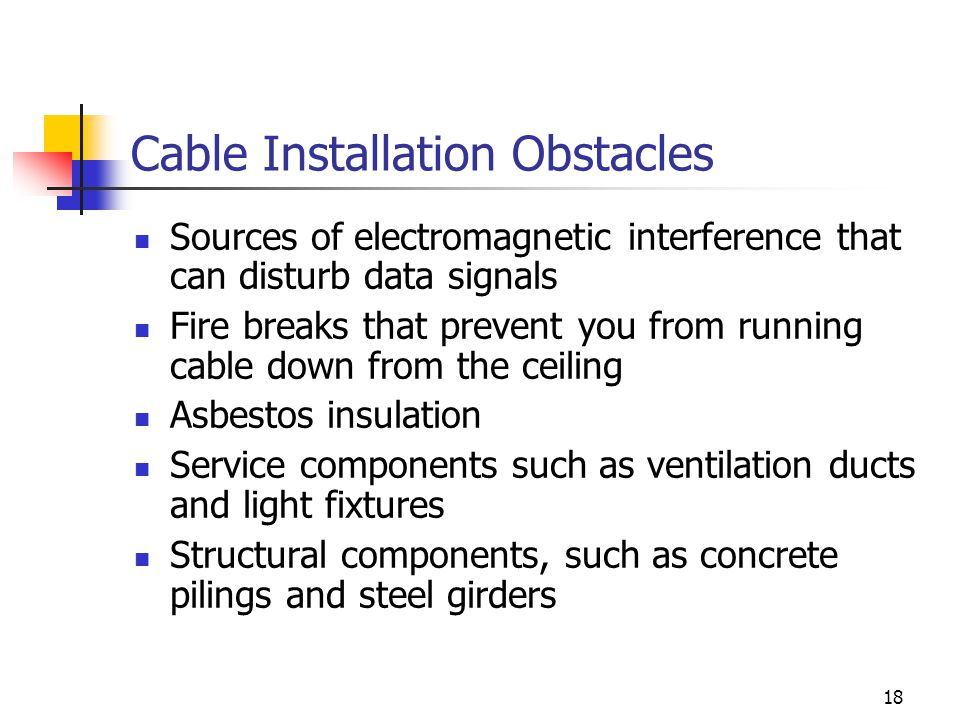 Cable Installation Obstacles