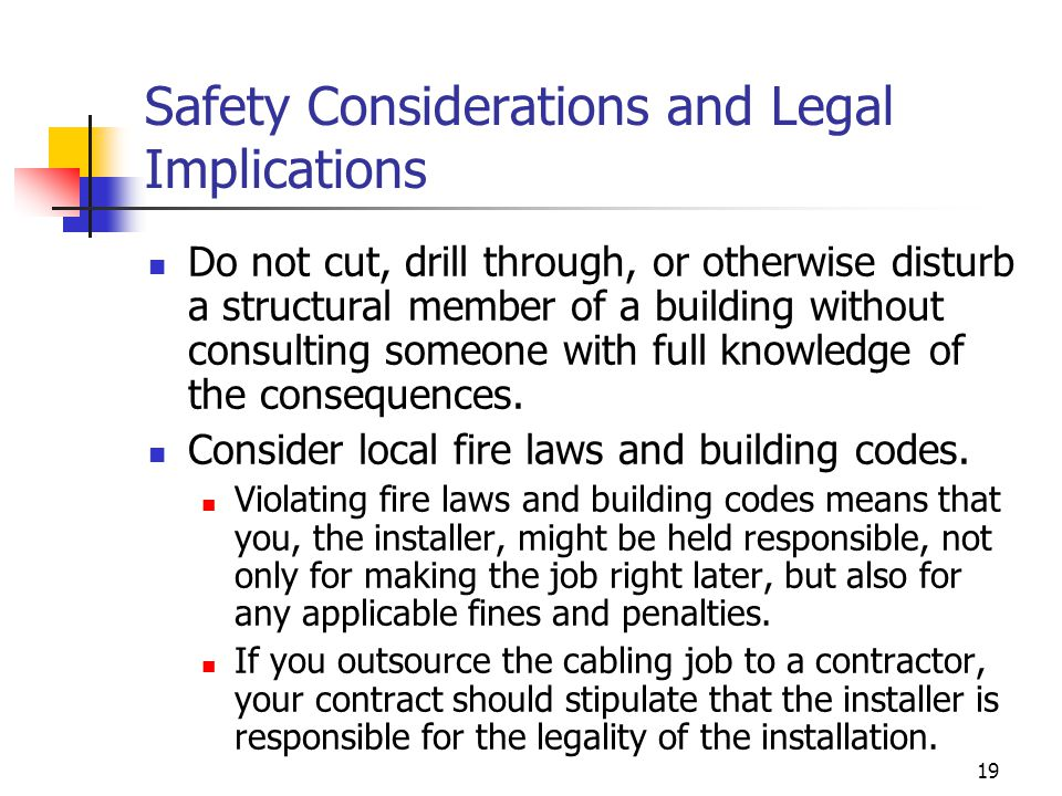 Safety Considerations and Legal Implications