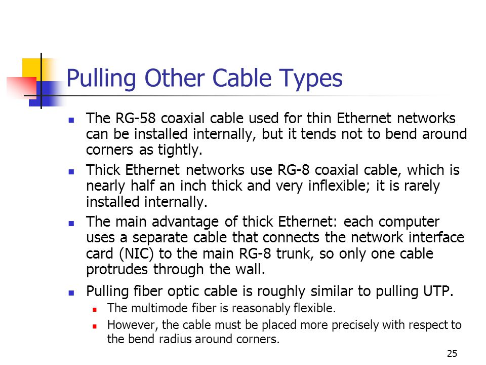 Pulling Other Cable Types