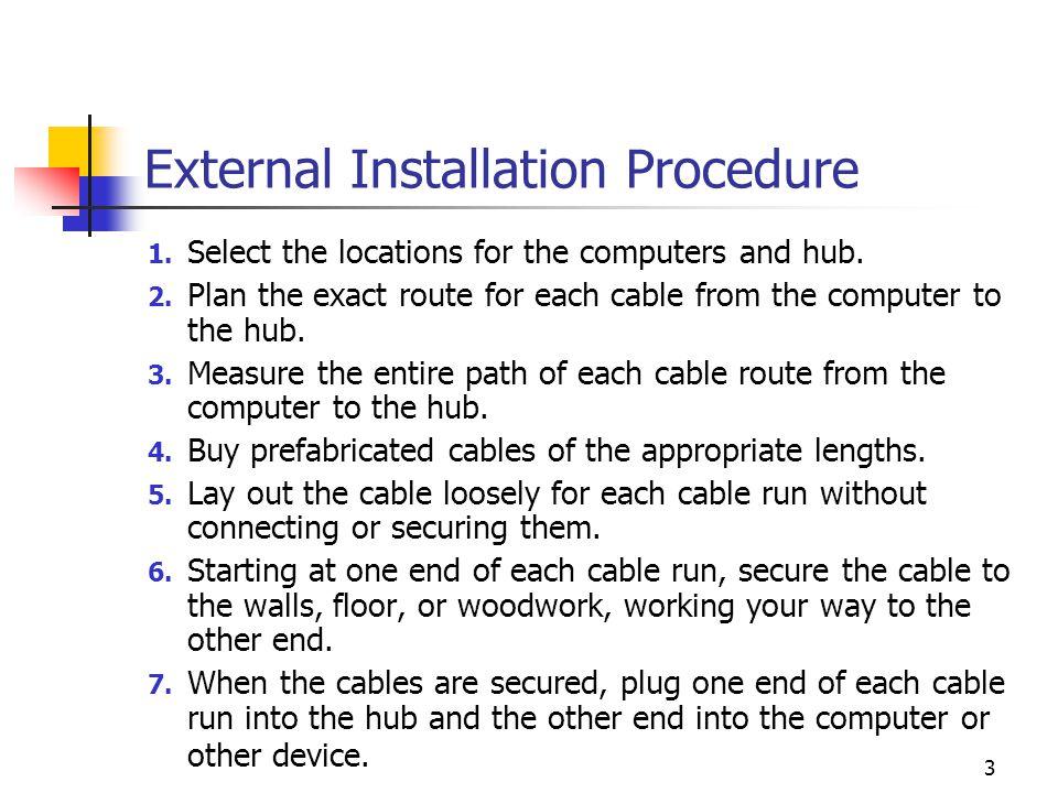 External Installation Procedure
