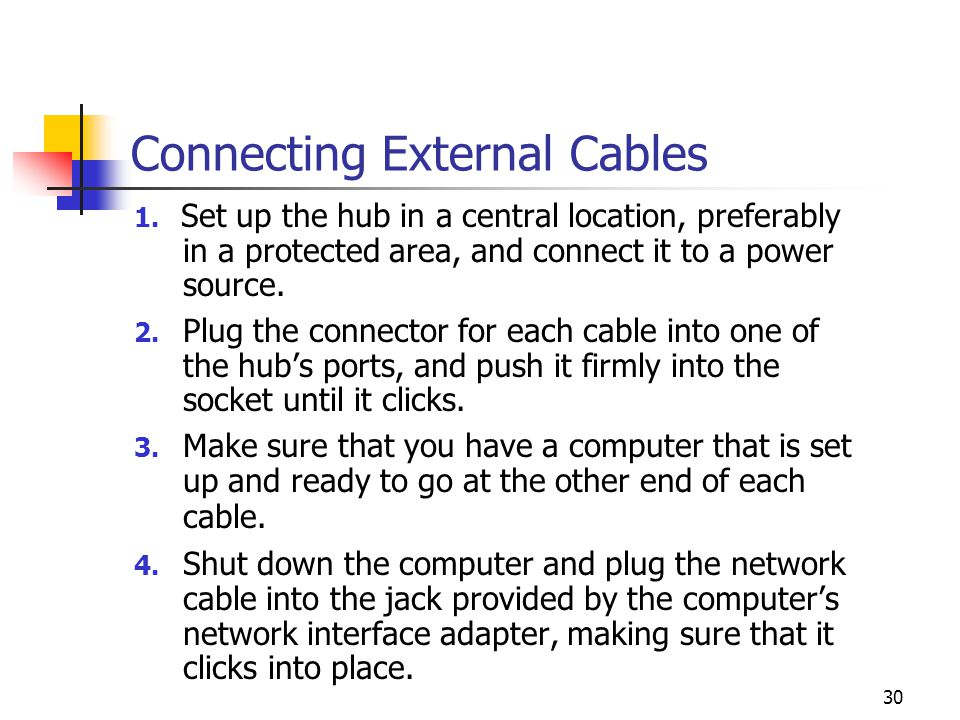 Connecting External Cables