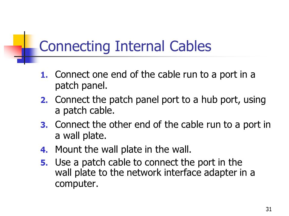 Connecting Internal Cables