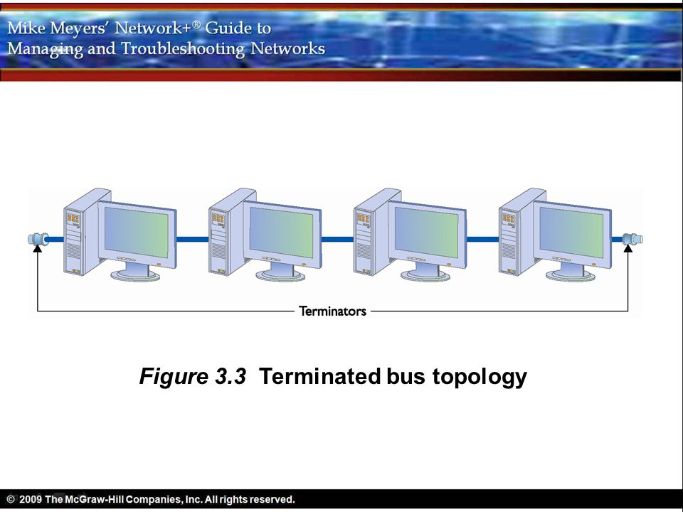 Figure 3.3 Terminated bus topology