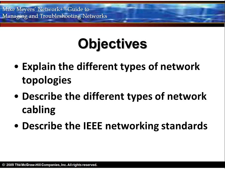 Objectives Explain The Different Types Of Network Topologies